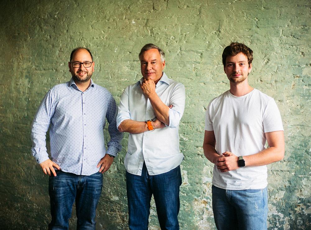 Timo Wentzel (Create to Care), Nico Hofman (UFA) & Daniel Littau (Create to Care, Camcore) Initiatoren